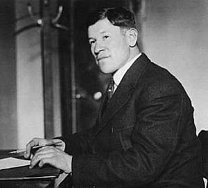 Jim Thorpe at desk