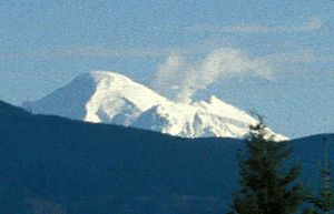 Mount Baker steam plume from Bellingham, WA, 1999