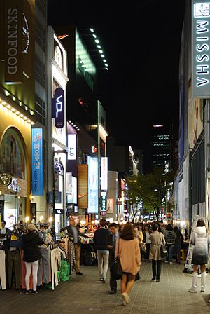 Myeong-dong street by night