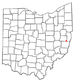 Location of Harrisville, Ohio
