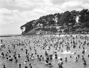 Queensland State Archives 2131 Bathers and Moora Park Sandgate December 1937