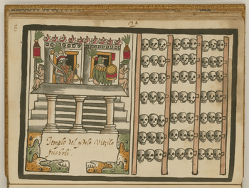 The Temple to the Aztec God Huitzilopochtli WDL6752