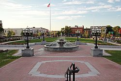 Downtown Westfield and Park Square.