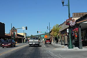 Whitefish Montana Downtown Looking North US93