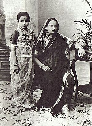 Women and Child in Saree