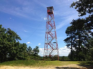 2014-08-29 11 34 32 The fire tower on top of Apple Pie Hill in Wharton State Forest, Tabernacle Township, New Jersey.JPG