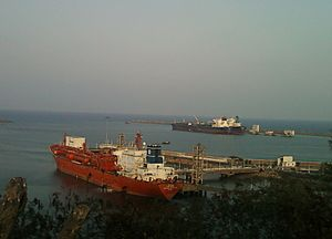 A view of Vizag Harbour Andhra Pradesh