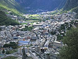 View of Andorra la Vella and a small part of Escaldes-Engordany