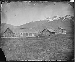 Camp Halleck and landscape in 1871