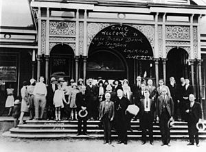 StateLibQld 1 15326 Civic welcome to Archbishop James Duhig and Dr Thomson in Emerald, 1931