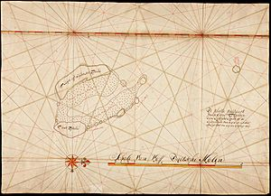 AMH-5134-NA Compass chart of the Kokos islands