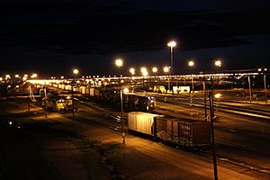 Bailey Yard at night