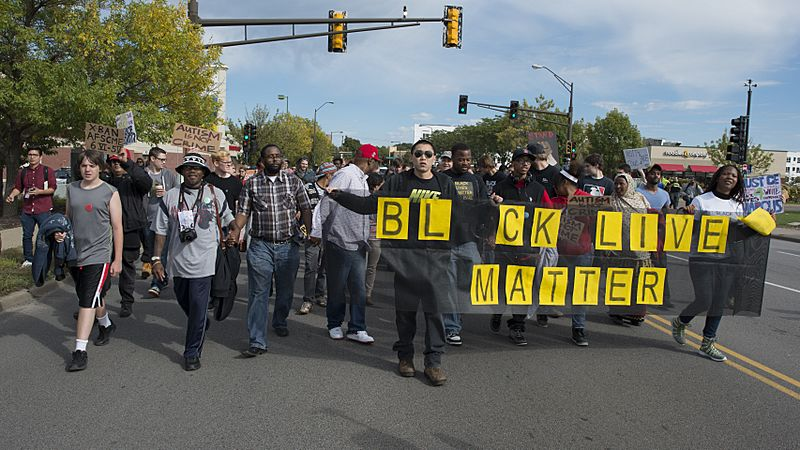 Black Lives Matter protest against St. Paul police brutality (21552438456)