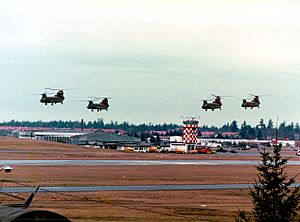 Four Chinooks at Fort Lewis