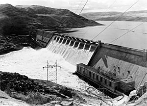 Grand Coulee Dam no forebay