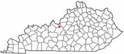 Location of Radcliff, Kentucky