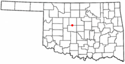Location of Okarche, Oklahoma