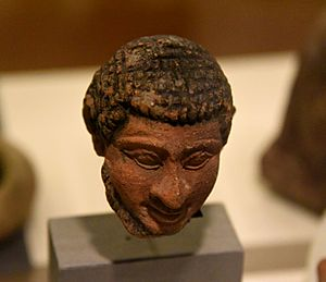 "Terracotta head of Semite, marked ""Hebrew"" by Petrie. From Memphis, Foreign Quarter, Egypt. Graeco-Roman Period. The Petrie Museum of Egyptian Archaeology, London"