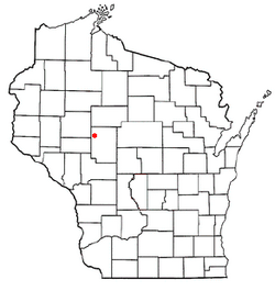 Location of Worden, Wisconsin
