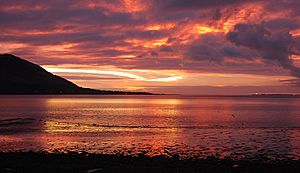 Warrenpoint red sky