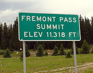 Fremont Pass Sign