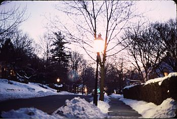 Gaslights on Vose Avenue, South Orange, NJ