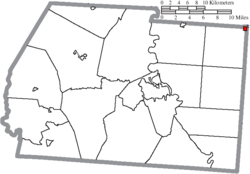 Location of Adelphi in Ross County