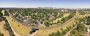 Melbourne Zoo aerial panorama