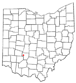 Location of Milledgeville, Ohio