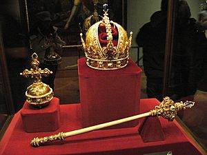 Sceptre and Orb and Imperial Crown of Austria
