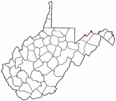 Location of Piedmont in West Virginia