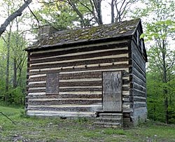 Walker-Ewing-Glass Log House in Settler's Cabin Park