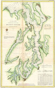 1867 U.S. Coast Survey Chart or Map of Puget Sound, Washington - Geographicus - PugetSound-uscs-1867