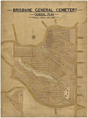 Brisbane General Cemetery (Toowong) - General plan, 8 July 1909