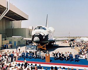 Discovery rollout ceremony