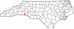 Location of Kings Mountain, North Carolina