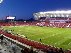 Rio Tinto Stadium home of Real Salt Lake is located in Sandy, UT