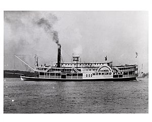 "Steamboat ""Morning Star"", 1858"