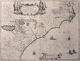 Virginia and Florida by W. Blaeu (MAM, Madrid, 413) 01