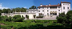 Vizcaya from south gardens