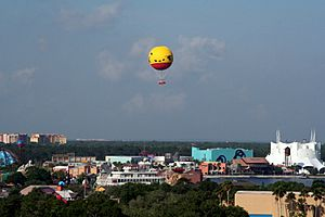 Downtown Disney - Characters in Flight panorama - retouched