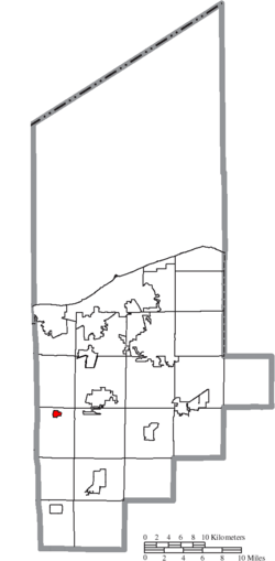 Location of Kipton in Lorain County