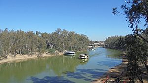 Paddle Steamer on Murray River at Moama