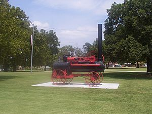 Peerless Steam Threshing Engine Pawnee County Courthouse Oklahoma