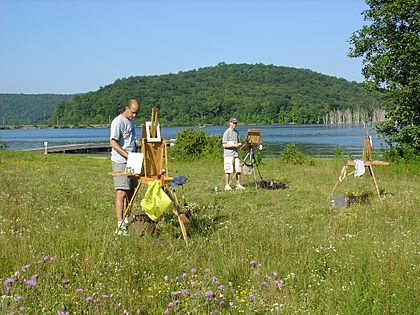 Plein Air Painters at Long Pond, Ringwood, NJ