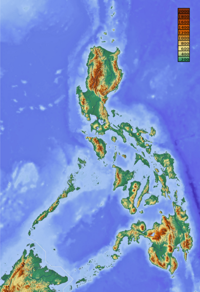 Relief Map Of The Philippines