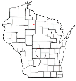 Location of Emery, Wisconsin