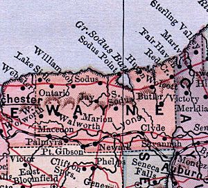 Wayne County, NY 1885 map