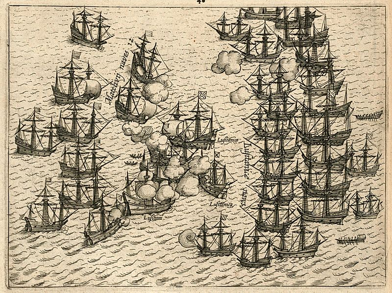 AMH-6472-KB Battle for Malacca between the VOC fleet and the Portuguese, 1606