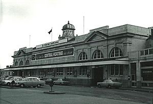 Cardiff Central rail station (possibly late 1960's)
